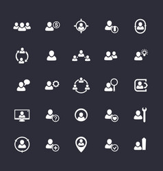 Human resources icons hr staff customers vector