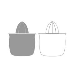 Juicer squeezer grey set icon vector