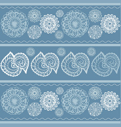 mandala patterns hand painted background vector image vector image