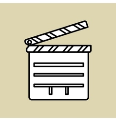 Movie clapboard design vector