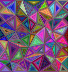 Multicolored triangle mosaic background design vector