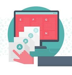 Organizing Digital Content vector image