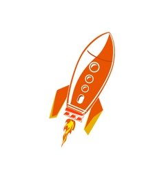 Red Rocket Isolated on White vector image vector image
