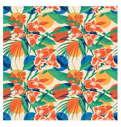 seamless summer hawaiian tropical pattern with vector image vector image