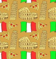 Sketch Italian pattern vector image