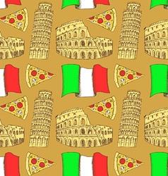 Sketch Italian pattern vector image vector image