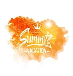 Summer vacation symbols of Summer holidays vector image