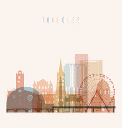 Toulouse skyline detailed silhouette vector