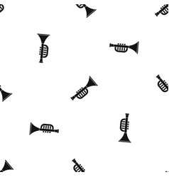 trumpet toy pattern seamless black vector image