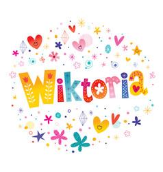 Wiktoria girls name vector