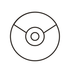 Cd disk isolated icon vector
