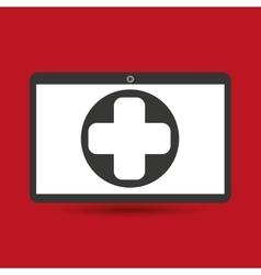 Computer digital healthcare cross vector