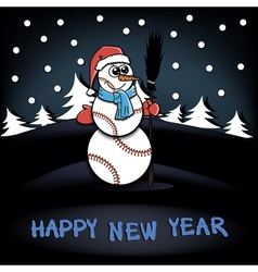 Snowman of baseball vector image