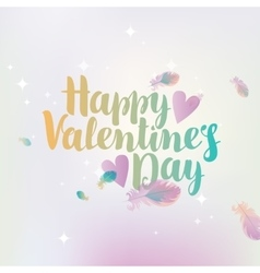 happy valentines day with hearts vector image