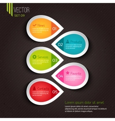 Infographic design for businesses vector