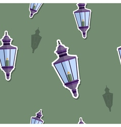 seamless pattern with lanterns vector image