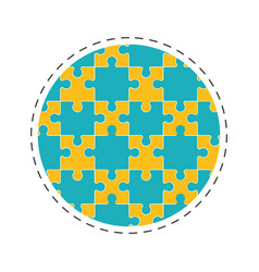 Round collection puzzle solution image vector