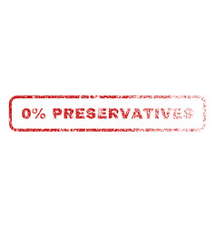0 percent preservatives rubber stamp vector image