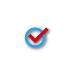 check mark symbol vector image