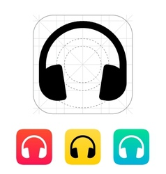 Dj headphones icon vector