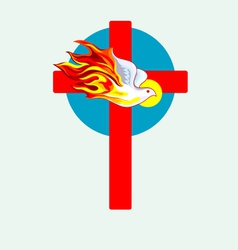Cross n holyspirit 2 vector