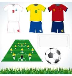 soccer set vector image