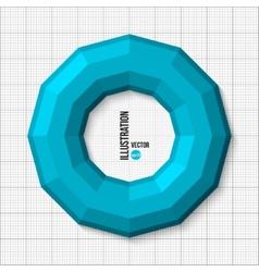 3D of torus vector image