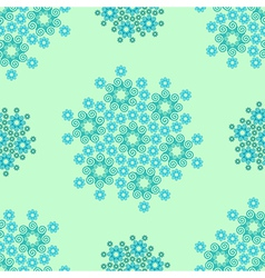 Seamless blue geometrical wave pattern vector