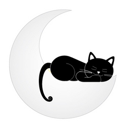 Cat on the moon vector