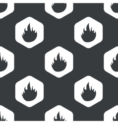 Black hexagon fire pattern vector
