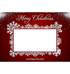 Red christmas greeting vector