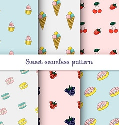Set of sweet patterns collection of seamless vector