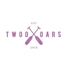 Two oars sign monogram logo in minimalism flat vector