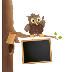 Owl on a twig vector