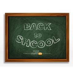School board isolated on white background vector