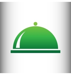 Server sign green gradient icon vector