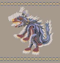 Traditional aztec koyote vector