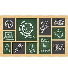 Back to school sketch icon set vector image vector image