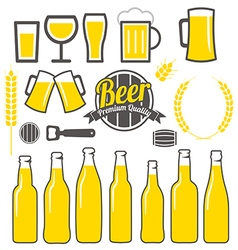 Beer icons labels signs symbols design vector