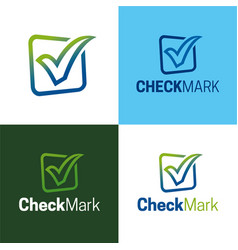 Check mark logo and icon vector