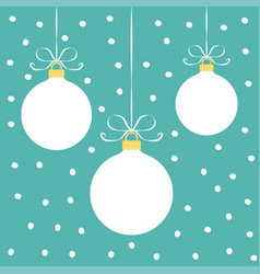 christmas balls on a blue background vector image