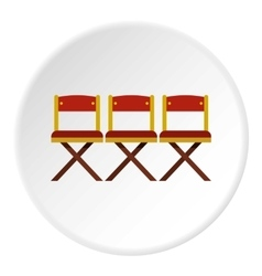 Cinema chair icon flat style vector