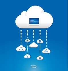 cloud graph vector image vector image