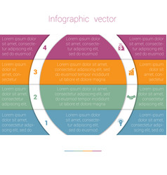 colorful strips and white semicircles for text 4 vector image