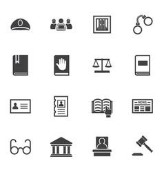 criminal law icon set vector image