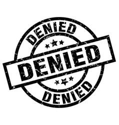 Denied round grunge black stamp vector