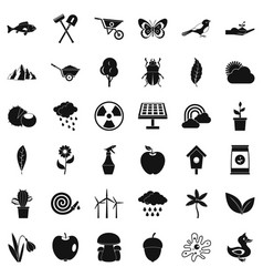 equipment icons set simple style vector image