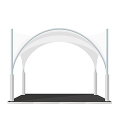 Folding tent marquee pavilion vector