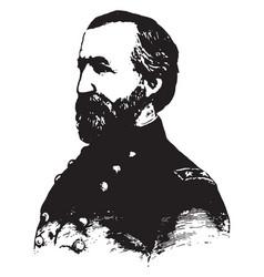 General william s rosecrans vintage vector