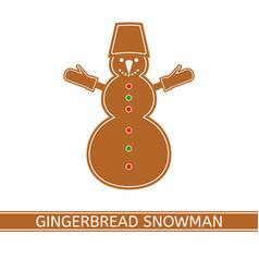 Gingerbread christmas snowman vector